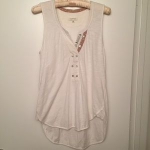 Anthropologie | Pure + Good Jasper White Tank